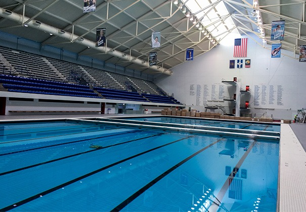 Indiana university natatorium natare indianapolis in for Average square footage of a swimming pool