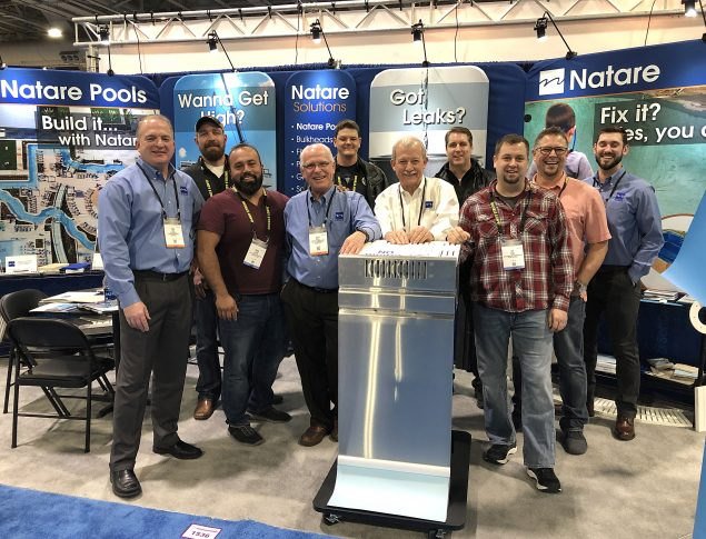Natare Corporation and Austin Carroll Pool Construction Ltd. at The Pool & Spa Show 2019